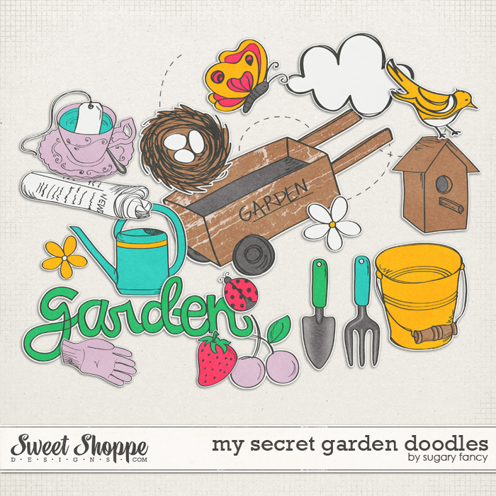 My Secret Garden Doodles by Sugary Fancy