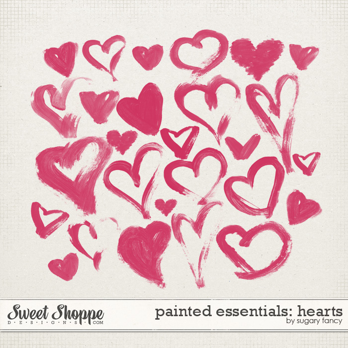 Painted Essentials: Hearts by Sugary Fancy
