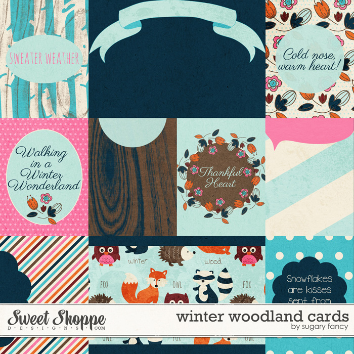 Winter Woodland Cards by Sugary Fancy