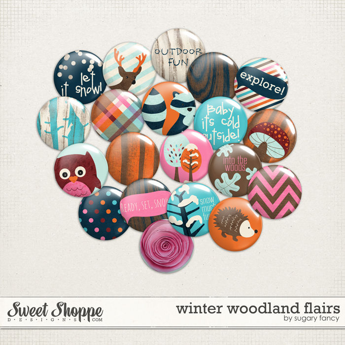 Winter Woodland Flairs by Sugary Fancy