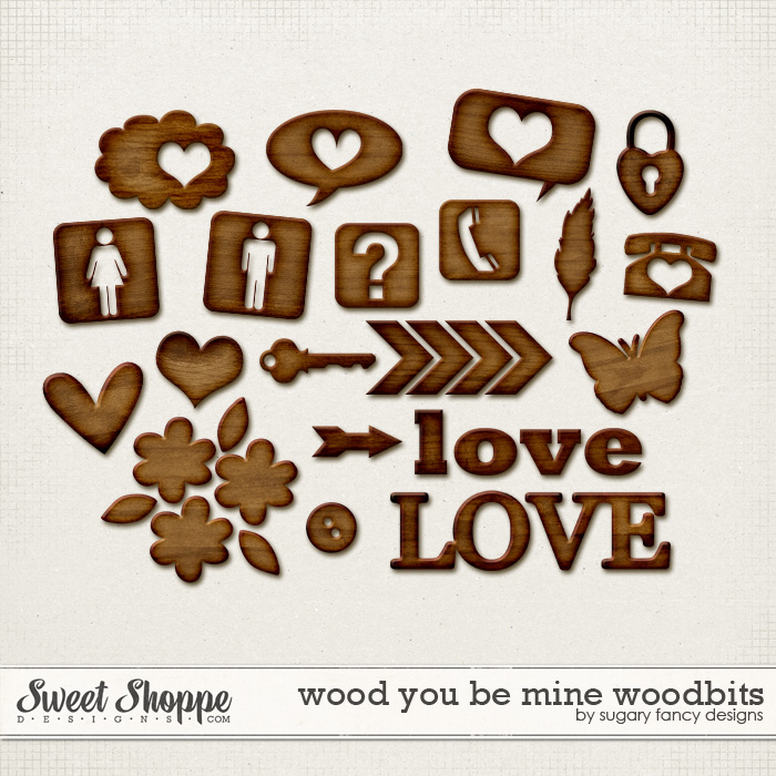 Wood you be mine? Woodbits by Sugary Fancy