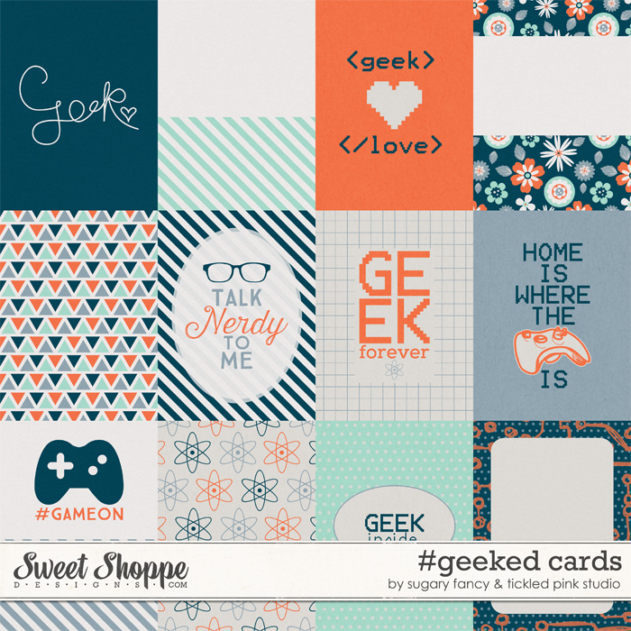 #geeked Cards by Sugary Fancy & Tickled Pink Studio