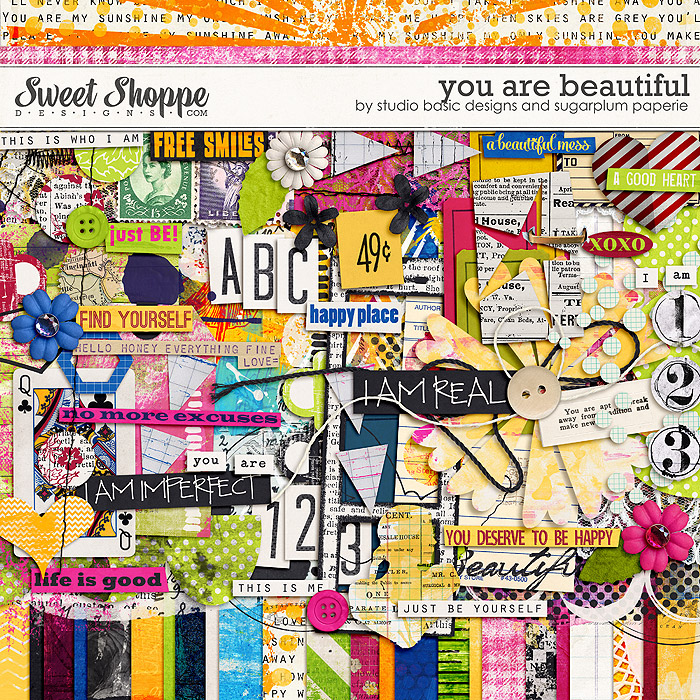 You are Beautiful by Studio Basic and Sugarplum Paperie