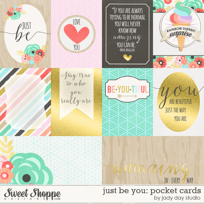 Just Be You: Pocket Cards by Jady Day Studio