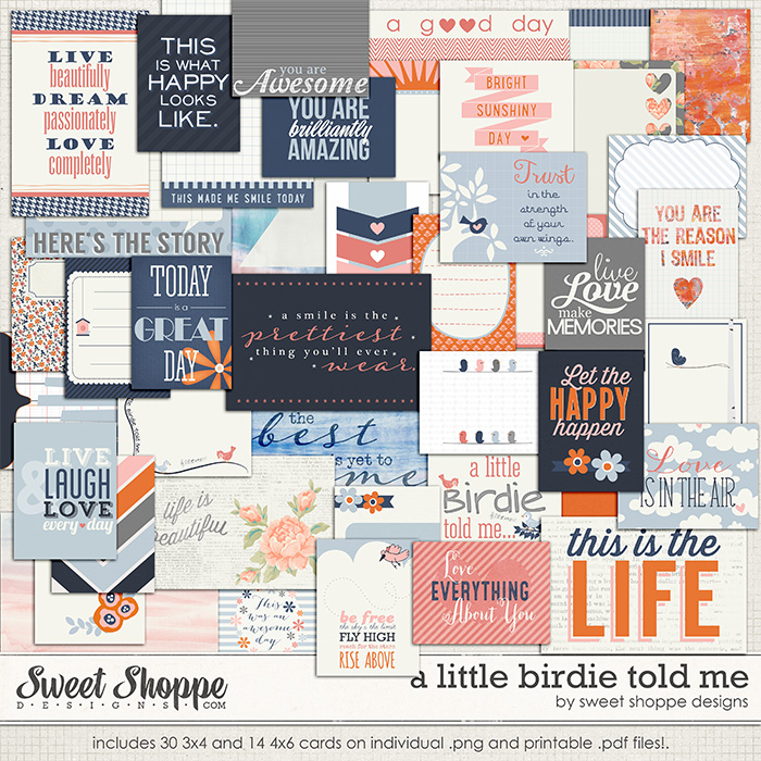 A Little Birdie Told Me by Sweet Shoppe Designs