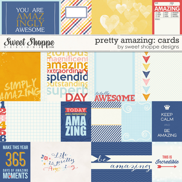 *FREE with your $20 Purchase* Pretty Amazing Project Cards by Sweet Shoppe Designs