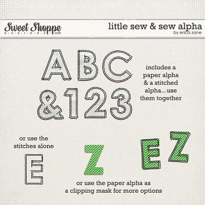 Little Sew & Sew Alpha by Erica Zane