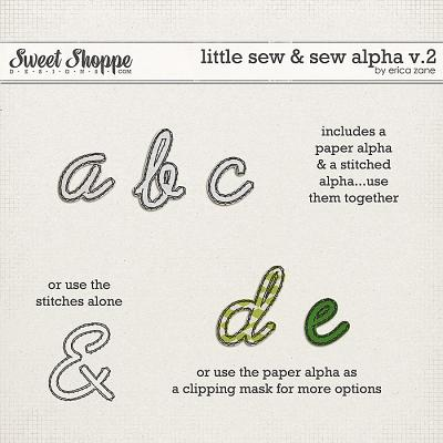 Little Sew & Sew Alpha v.2 by Erica Zane