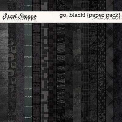 Go, Black! {paper pack} by Studio Basic