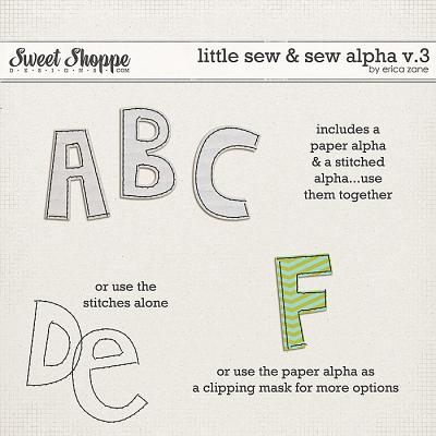 Little Sew & Sew Alpha v.3 by Erica Zane