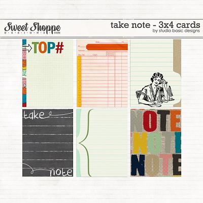 Take Note - 3x4 Cards by Studio Basic