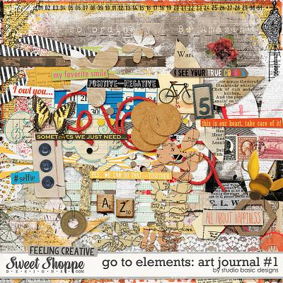 Go To Elements: Art Journal #1 by Studio Basic