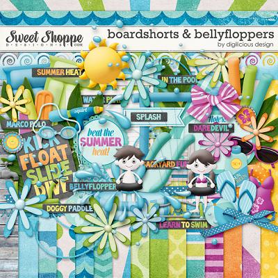 Boardshorts & Bellyfloppers by Digilicious Design
