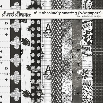 A² = Absolutely Amazing {b/w papers} by Studio Basic