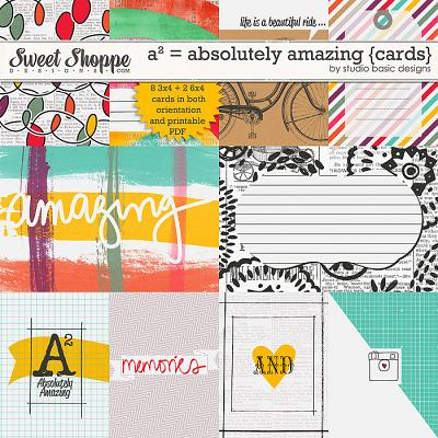 A² = Absolutely Amazing {cards} by Studio Basic