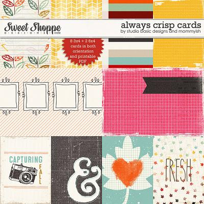 Always Crisp Cards by Studio Basic and Mommyish