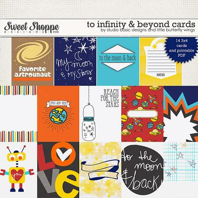 To Infinity & Beyond Cards by Studio Basic and Little Butterfly Wings