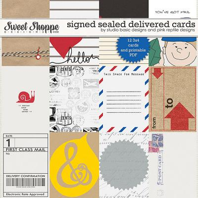 Signed Sealed & Delivered Cards by Studio Basic and Pink Reptile Designs