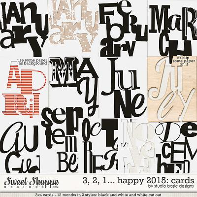 3, 2, 1... Happy 2015: Cards by Studio Basic