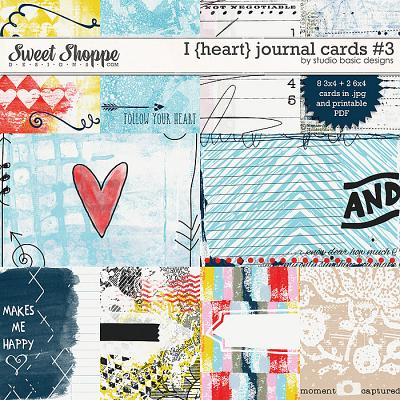 I {heart} Journal Cards #3 by Studio Basic