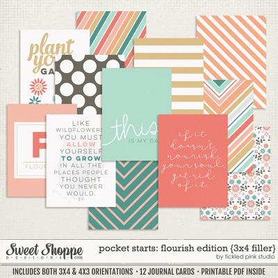 Pocket Starts: Flourish Edition 3x4 Filler Cards by Tickled Pink Studio