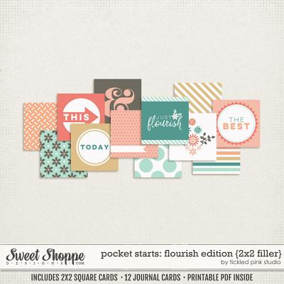 Pocket Starts: Flourish Edition 2x2 Filler Cards by Tickled Pink Studio