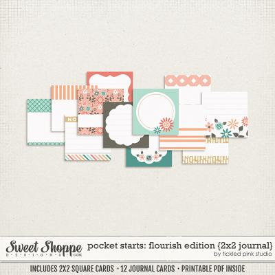 Pocket Starts: Flourish Edition 2x2 Journal Cards by Tickled Pink Studio