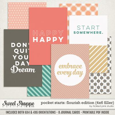 Pocket Starts: Flourish Edition 4x6 Filler Cards by Tickled Pink Studio