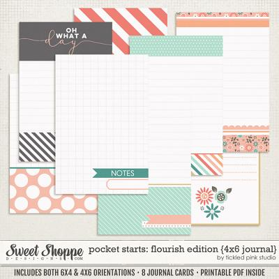 Pocket Starts: Flourish Edition 4x6 Journal Cards by Tickled Pink Studio