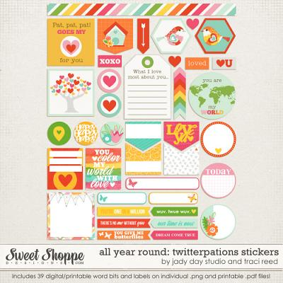 All Year Round: Twitterpations Stickers by Traci Reed and Jady Day Studio