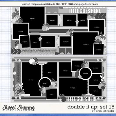 Cindy's Layered Templates - Double It Up Set 15 by Cindy Schneider