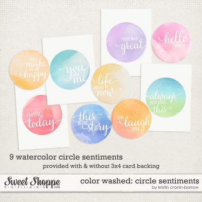 Colorwashed: Circle Sentiments by Kristin Cronin-Barrow