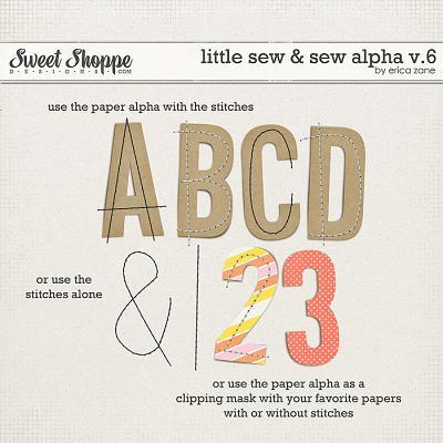 Little Sew & Sew Alpha v.6 by Erica Zane