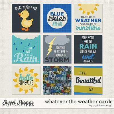 Whatever the Weather Cards by Digilicious Design
