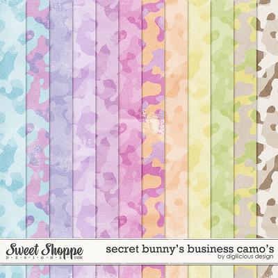 Secret Bunny's Business Camo's by Digilicious Design