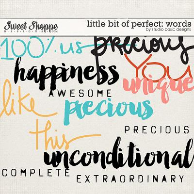 Little Bit Of Perfect Words by Studio Basic
