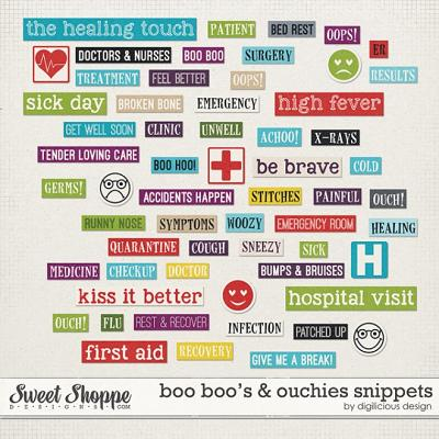 Boo Boo's & Ouchies Snippets by Digilicious Design