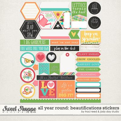 All Year Round: Beautifications Stickers by Jady Day Studio and Traci Reed