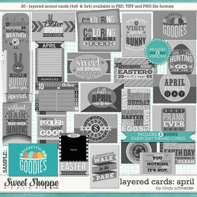 Cindy's Layered Cards: April Edition by Cindy Schneider