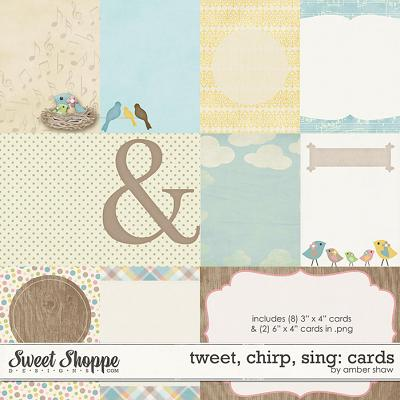 Tweet, Chirp, Sing: Cards by Amber Shaw
