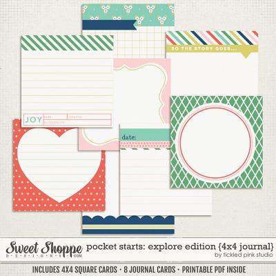 Pocket Starts: Explore Edition 4x4 Journal Cards by Tickled Pink Studio