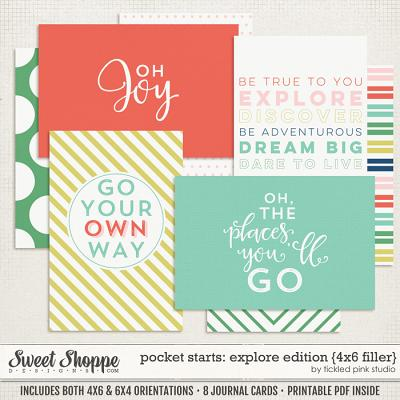 Pocket Starts: Explore Edition 4x6 Filler Cards by Tickled Pink Studio