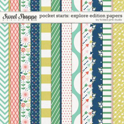 Pocket Starts: Explore Edition Papers by Tickled Pink Studio
