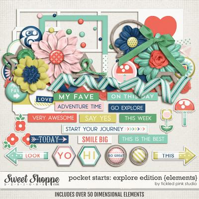 Pocket Starts: Explore Edition Elements by Tickled Pink Studio