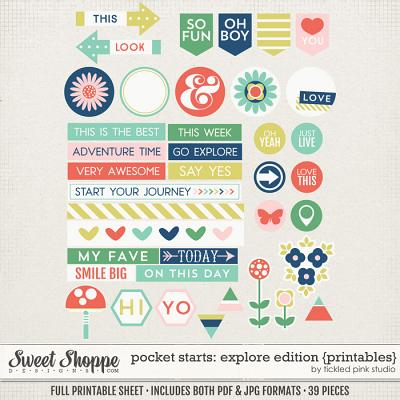 Pocket Starts: Explore Edition Printables by Tickled Pink Studio
