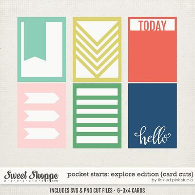Pocket Starts: Explore Edition Card Cuts by Tickled Pink Studio