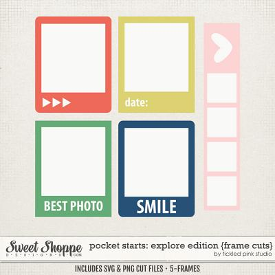 Pocket Starts: Explore Edition Frame Cuts by Tickled Pink Studio
