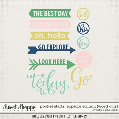 Pocket Starts: Explore Edition Word Cuts by Tickled Pink Studio