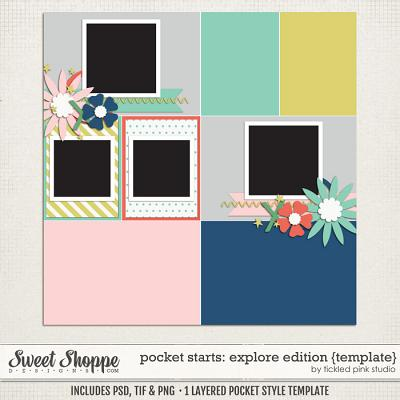 Pocket Starts: Explore Edition Template by Tickled Pink Studio