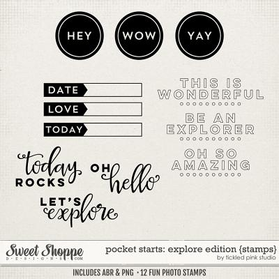 Pocket Starts: Explore Edition Stamps by Tickled Pink Studio